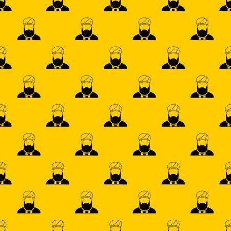 Muslim preacher pattern vector
