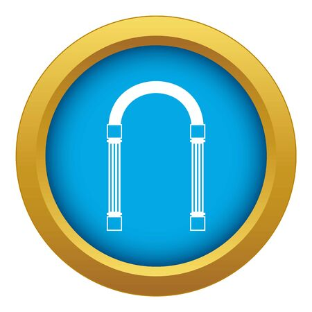 Arch icon blue vector isolated Illustration