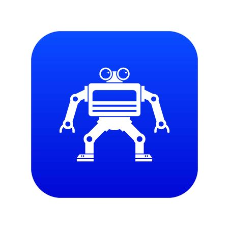 Machine icon digital blue Illustration