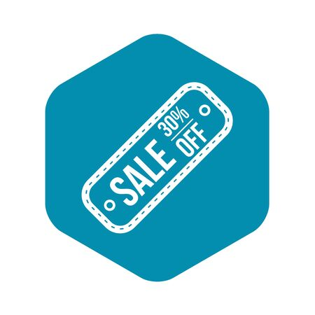 Sale tag 30 percent off icon in simple style on a white background vector illustration