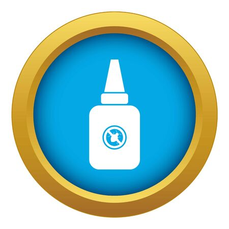 Insect spray icon blue vector isolated