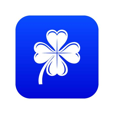 Four leaf clover icon blue vector isolated on white background Foto de archivo - 130247657