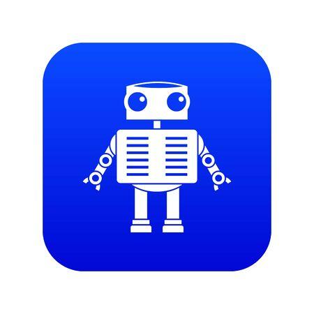 Robot with big eyes icon digital blue 免版税图像 - 125414678