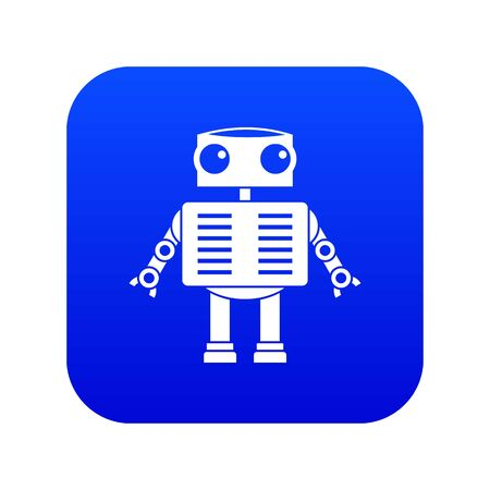 Robot with big eyes icon digital blue