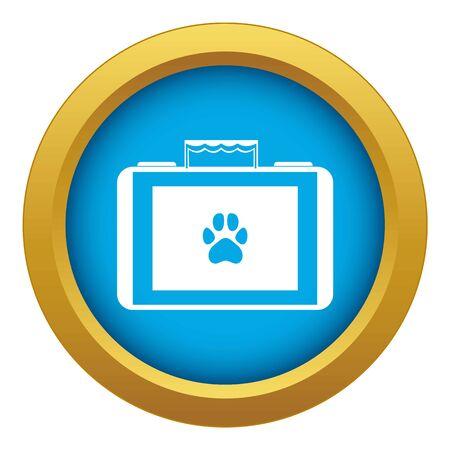 Suitcase for animals icon blue vector isolated Foto de archivo - 125414834