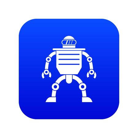 Humanoid robot icon digital blue Vectores