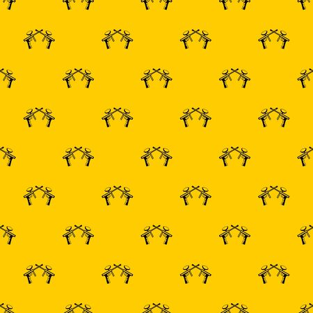 Paintball guns pattern seamless vector repeat geometric yellow for any design