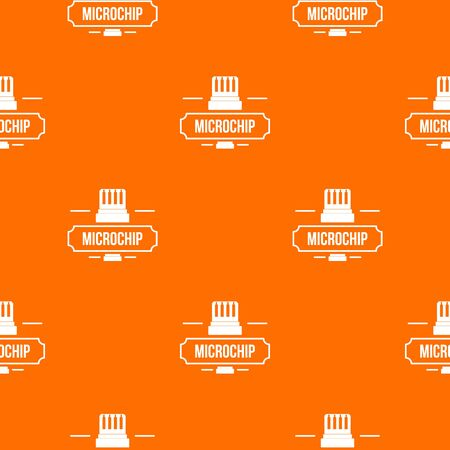 New technology pattern vector orange