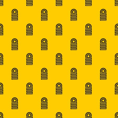 Pile of tires pattern seamless vector repeat geometric yellow for any design