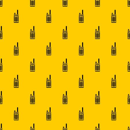 Portable handheld radio pattern seamless vector repeat geometric yellow for any design