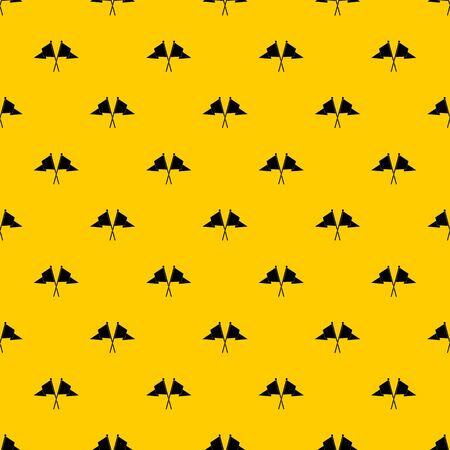 Two flags pattern seamless vector repeat geometric yellow for any design Stock Illustratie