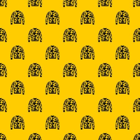 Camouflage jacket pattern seamless vector repeat geometric yellow for any design