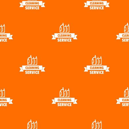 Cleaning service pattern vector orange