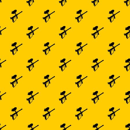 Paintball marker pattern seamless vector repeat geometric yellow for any design
