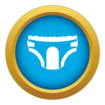 Adult diapers icon blue vector isolated