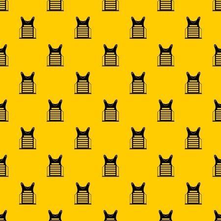 Paintball vest pattern seamless vector repeat geometric yellow for any design