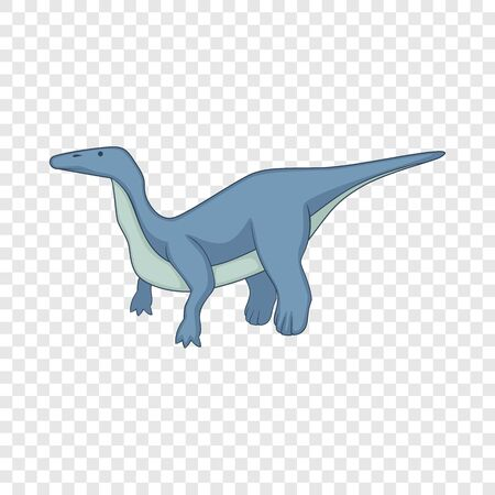 Brontosaurus icon, cartoon style