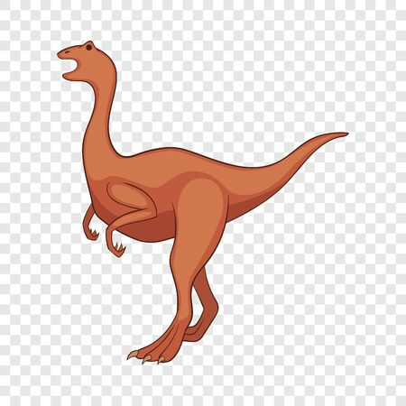 Allosaurus icon, cartoon style