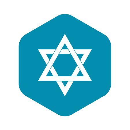 Star of David icon, simple style Illustration