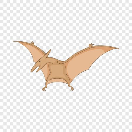 Pterosaurs icon, cartoon style