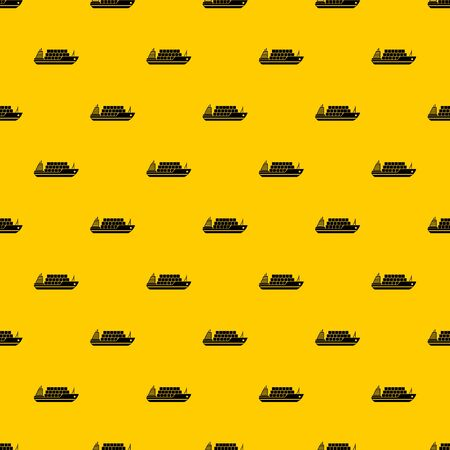 Cargo ship pattern seamless vector repeat geometric yellow for any design