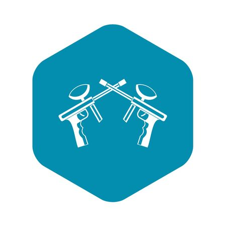 Paintball guns icon in simple style on a white background vector illustration