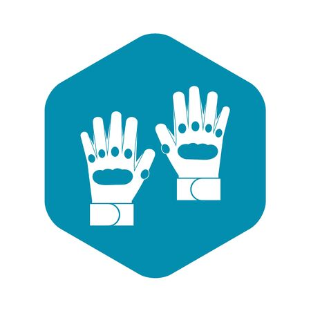 Pair of paintball gloves icon in simple style on a white background vector illustration Stock Illustratie