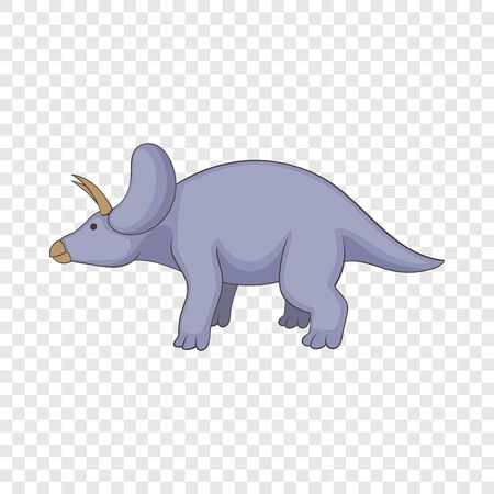 Triceratops icon, cartoon style