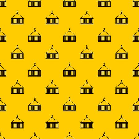 Crane hook lifts container pattern seamless vector repeat geometric yellow for any design Banco de Imagens - 125357613