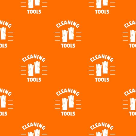 Cleaning tools pattern vector orange