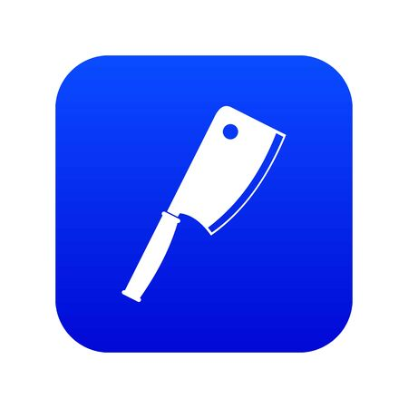 Meat knife icon digital blue for any design isolated on white vector illustration