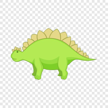 Stegosaurus icon, cartoon style