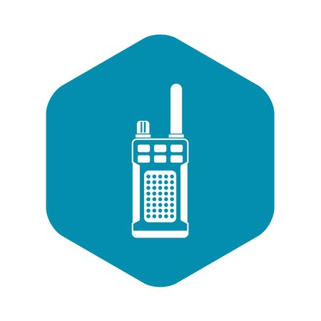 Portable handheld radio icon in simple style on a white background vector illustration Illustration