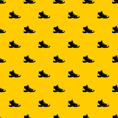 Tourist shoe pattern seamless vector repeat geometric yellow for any design