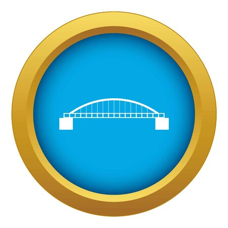 Bridge icon blue vector isolated on white background for any design