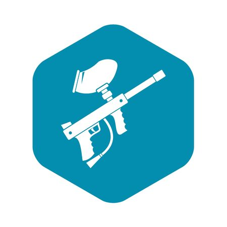 Paintball marker icon in simple style on a white background vector illustration