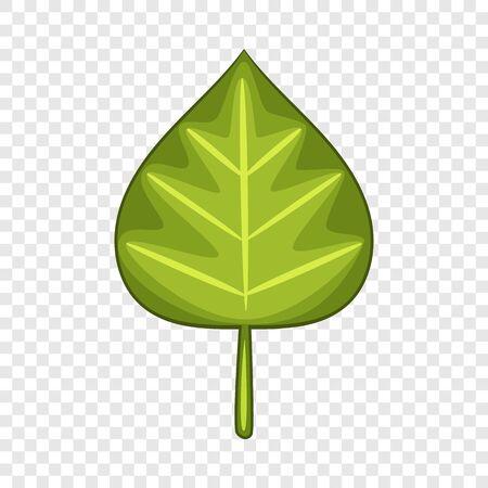 Icono de hoja de aliso. Ilustración de dibujos animados de icono de vector de hoja de aliso para web Ilustración de vector