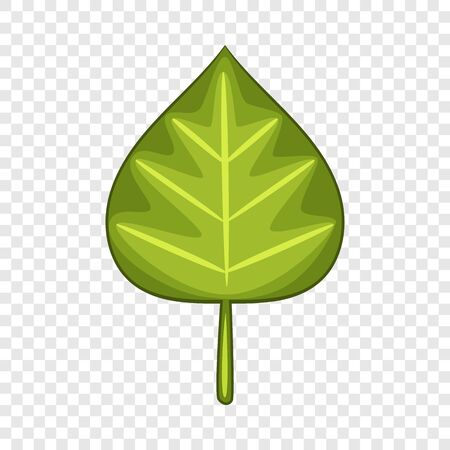 Alder leaf icon. Cartoon illustration of alder leaf vector icon for web