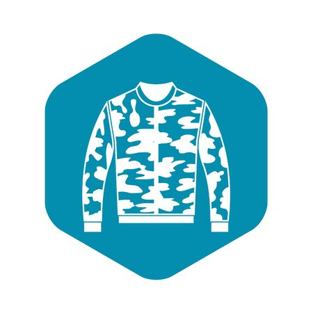 Camouflage jacket icon in simple style on a white background vector illustration Stock Illustratie