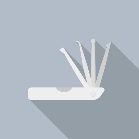 Unlock door tool icon. Flat illustration of unlock door tool vector icon for web design Ilustração