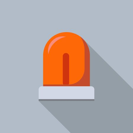 Red flash light icon, flat style Illustration