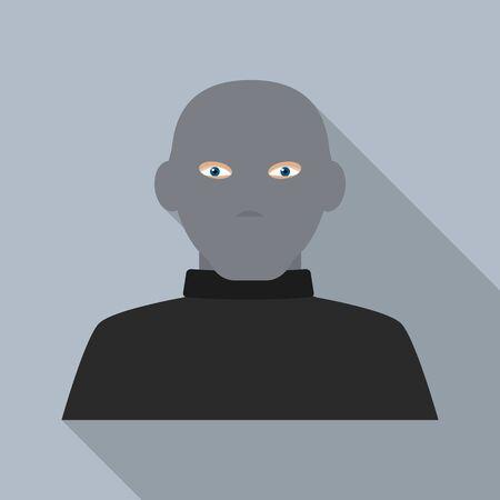 Mask burglar icon. Flat illustration of mask burglar vector icon for web design