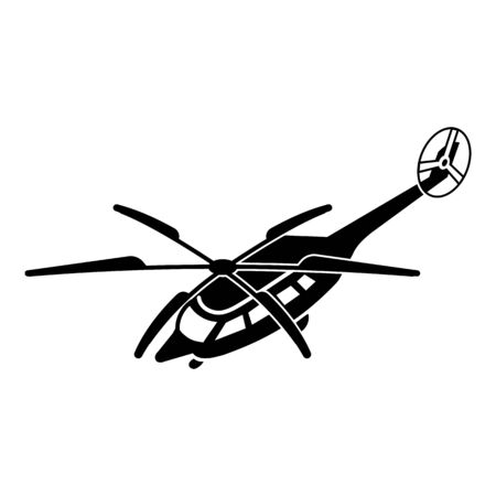 Helicopter icon. Simple illustration of helicopter vector icon for web design isolated on white background