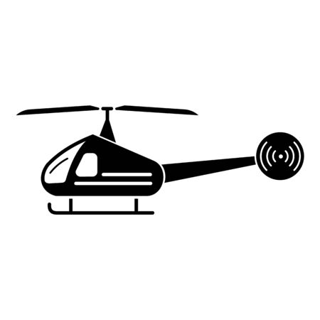 City helicopter icon. Simple illustration of city helicopter vector icon for web design isolated on white background Çizim