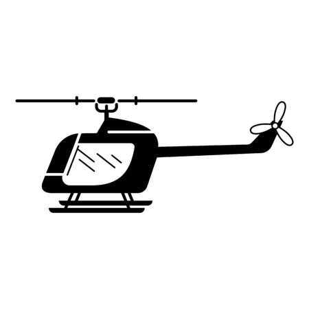 Rc helicopter icon. Simple illustration of rc helicopter vector icon for web design isolated on white background Vetores