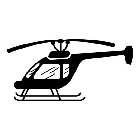 Small helicopter icon. Simple illustration of small helicopter vector icon for web design isolated on white background