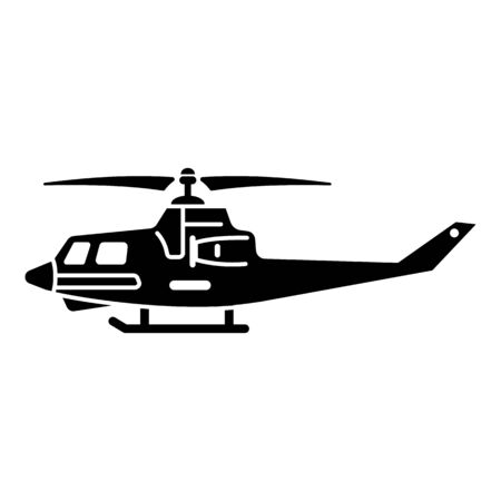 Helicopter fighter icon. Simple illustration of helicopter fighter vector icon for web design isolated on white background