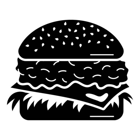 Tasty burger icon. Simple illustration of tasty burger vector icon for web design isolated on white background