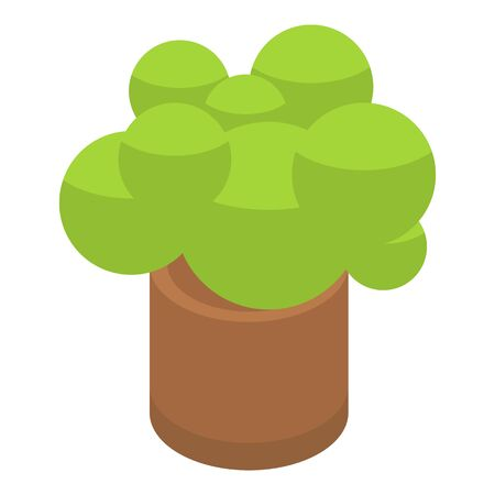 Bush pot icon. Isometric of bush pot vector icon for web design isolated on white background