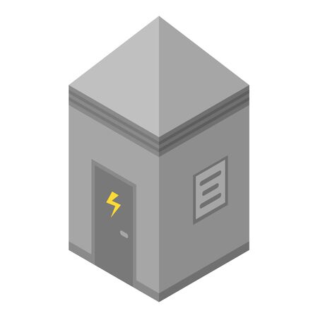 Electrical station box icon. Isometric of electrical station box vector icon for web design isolated on white background
